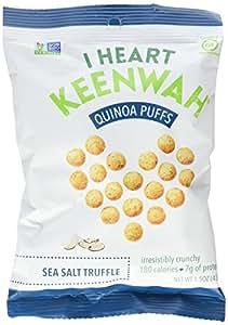 Quinoa Puffs, Sea Salt Truffle, 1.5oz, Vegan, Gluten-Free (Pack of 6)