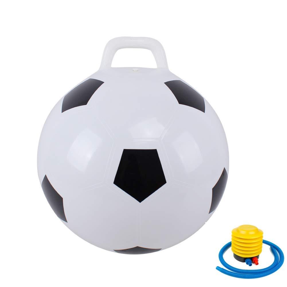 Kaptin Hopper Ball,Hoppity Hop,Jumping Ball,Sit and Bounce,Bouncy Ball with Handles,Kids Balance Ball for Children Age 3-6,Air Pump Included