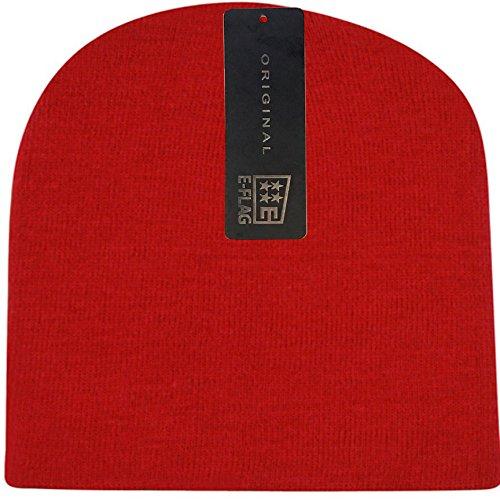 Women/Men Basic Solid Color Warm Knit Ski Snowboarding Beanie Hat ()