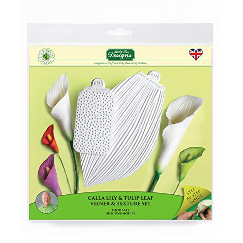 - Calla Lily & Tulip Leaf Vein & Texture Set, Sugarpaste Silicone Mold, Flower Pro by Nicholas Lodge for Cake Decorating, Crafts, Cupcakes, Sugarcraft, Candies, Chocolate and Clay, Food Safe Approved