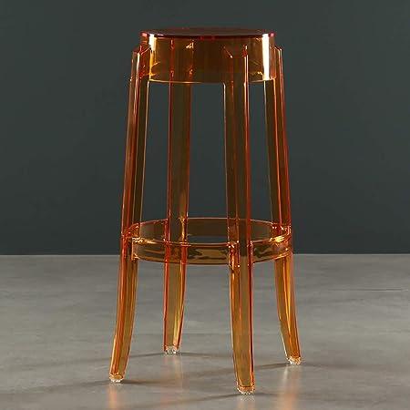 Nordic Chaise Transparente Tabouret De Bar Acrylique Haute