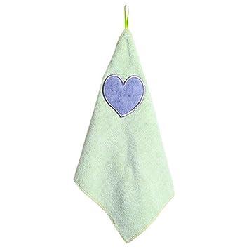 so-buts niños Nursery toalla de mano suave peluche lazo para colgar limpiador toalla de baño cocina: Amazon.es: Hogar