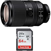 Sony FE 70-300mm f/4.5-5.6 G OSS E-Mount Telephoto Zoom Lens & SanDisk 64 GB SD Card