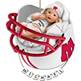 University of Wisconsin Badgers Football Personalized Baby's First Ornament by The Bradford Exchange