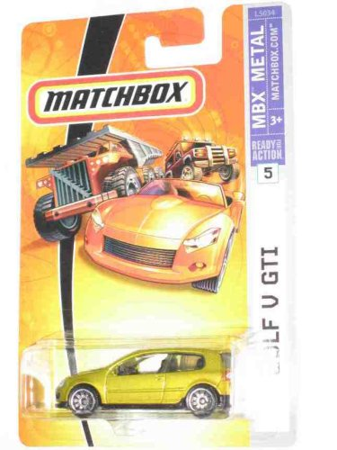 2007 Matchbox #5 Golf V GTI Gold Collectibles Collector Car ()