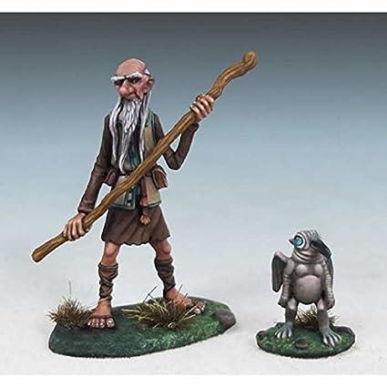 Amazon com: Arthur and Rankin Human Wizard with Familiar Miniature