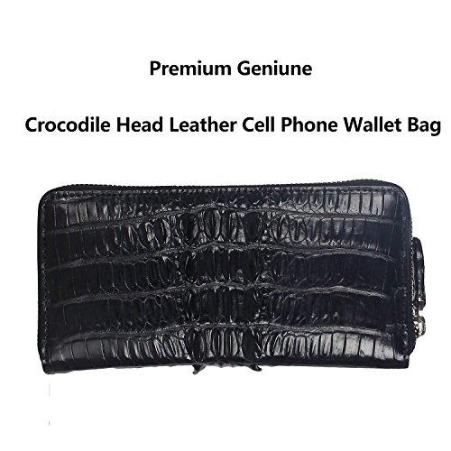 Handmade Authentic RealCrocodile Leather [Alligator] Men Wallet Business Clutch - Alligator Breast Pocket Wallet