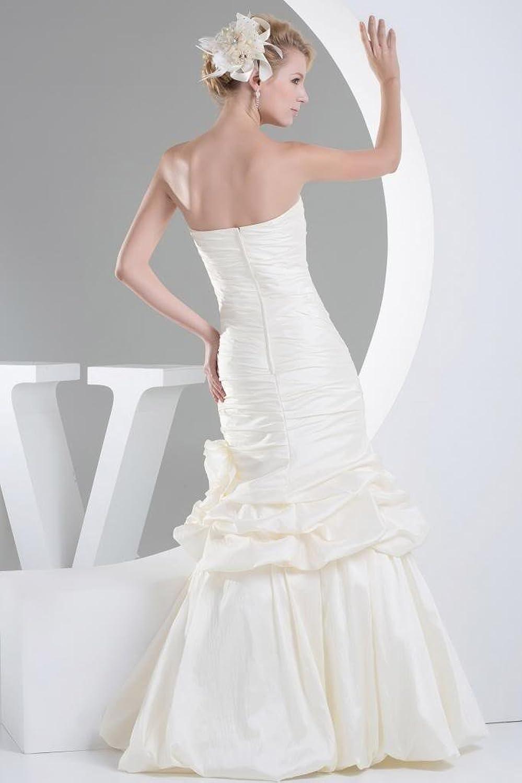 GEORGE BRIDE Mermaid Strapless Wedding dress with Handmade Flowers