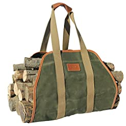 INNO STAGE Waxed Canvas Log Carrier Tote...