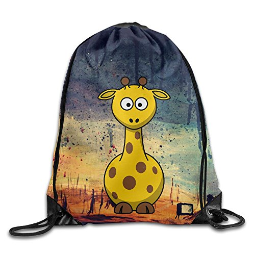 Hobo Costume Images (Giraffe Drawstring Gym Sport Bag, Large Lightweight Gym Sackpack Backpack For Men And Women)