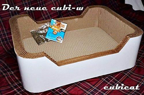 cubicat cubi-w Kratzbrett/ Scratcher + Catnip aus Pappe für Katzen