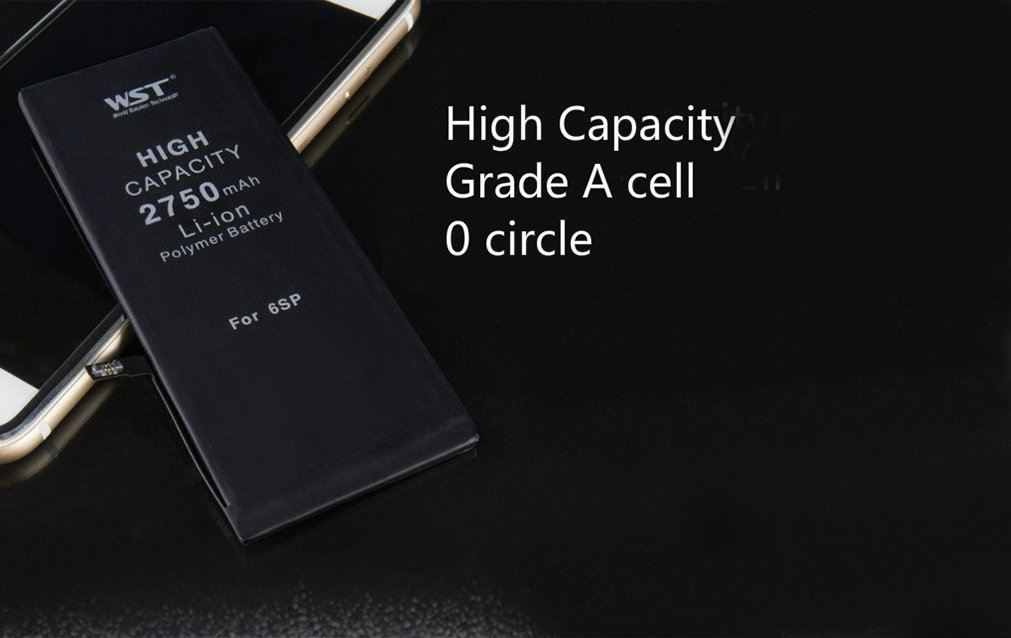 Emovendo High Capacity Replacement Battery for iPhone 6S Plus 2750mAh with Repair Replacement Tool Kit, Adhesive Strip , New 0 circle and Safe, Repair Your iPhone in 15min