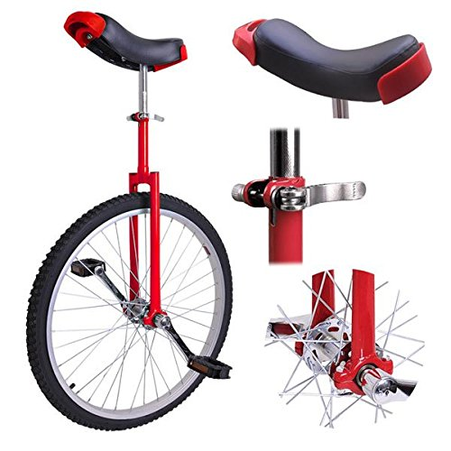 Triprel Inc Professional 24'' Inch Wheel Performance Trick Unicycle - RED