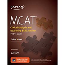 MCAT Critical Analysis and Reasoning Skills Review 2019-2020: Online + Book