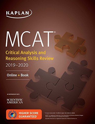 MCAT Critical Analysis and Reasoning Skills Review 2019-2020: Online + Book (Kaplan Test Prep)