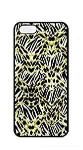 Hard Snap on Phone Case phone case iphone 5s with screen protector - Black and white zebra print