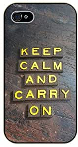 "iPhone 6 (4.7"") Keep Calm and carry on - black plastic case / Keep Calm, Motivation and Inspiration"