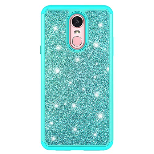 Price comparison product image LG STYLO 4 Case,  LG Stylo 4 Plus Glitter Case,  Urberry Sparkly Bling Dual Layer Hybrid Protective Phone Case for LG Stylo 4 Plus (Green)