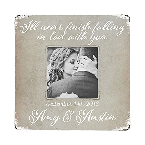 Amazon.com: Personalized Rustic Picture Frame, Wedding or Engagement ...