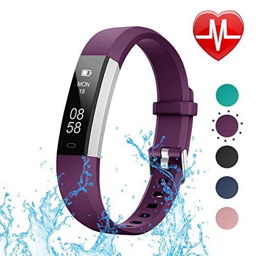 LETSCOM Fitness Tracker with Heart Rate Monitor, Slim Sports Activity...