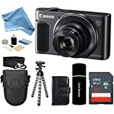 Canon PowerShot SX620 HS 20.2MP Digital Super 25x Optical Zoom Camera (Black) + SanDisk 32GB Card + Case + Tripod - 32GB + DigitalAndMore Deluxe Accessories Bundle