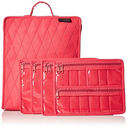 Yazzii Craft Box Fabric Top, (Fuchsia Quilt Fabric)