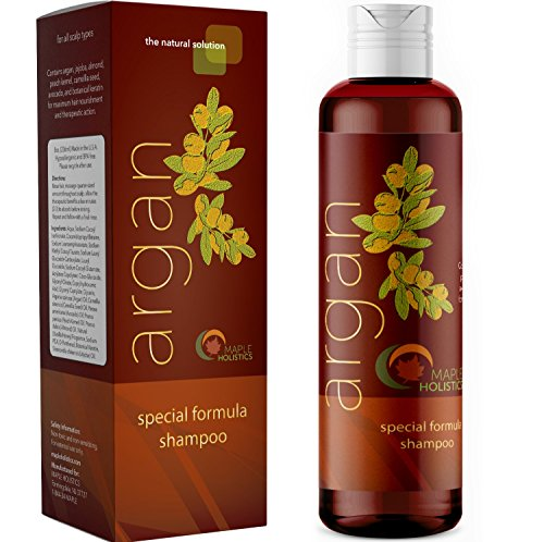Argan Oil Color Safe Shampoo for Beautiful Hair Natural Hair Care with Jojoba Avocado Almond Peach Kernel Camellia Seed and Keratin Daily Hair Moisturizer for Thick Curly and Thin Straight Hair Types ()