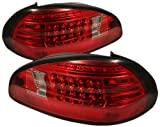 pontiac grand am led tail lights - Spyder Auto ALT-YD-PGP97-LED-RC Pontiac Grand Prix Red/Clear LED Tail Light