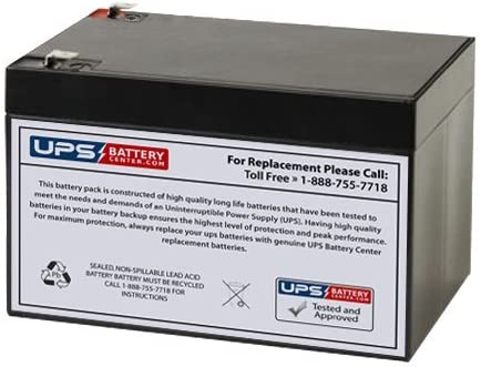 12V 12Ah F2 SLA Battery Replacement for CB12-12 NP12-12 BP12-12 ES12-12 UB12120