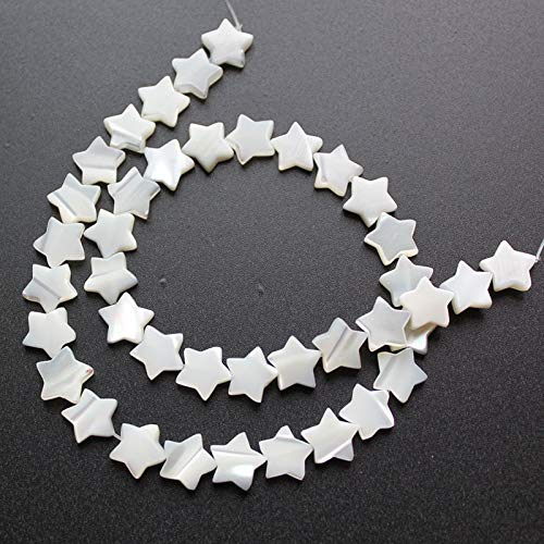 - Calvas 30Pc/Pack White Natural Mother of Pearl Shell Five-Pointed Star DIY Shell Beads for Women Jewelry Making Earrings Necklaces - (Item Diameter: 8MM)