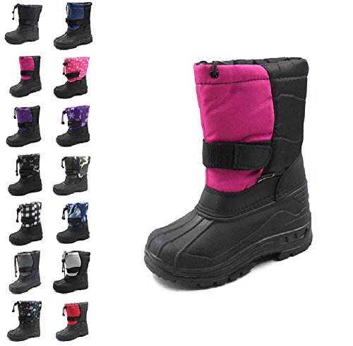"Skadoo Girls ""Snow Goer"" Boots - pink/black, 9 toddler"