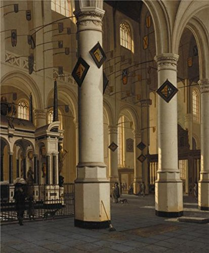 [Perfect Effect Canvas ,the Best Price Art Decorative Prints On Canvas Of Oil Painting 'Hendrick Van Vliet,Interior Of The New Church At Delft,1660-1670', 24x29 Inch / 61x74 Cm Is Best For Game Room Artwork And Home Decor And] (Chicago The Musical Costume Ideas)