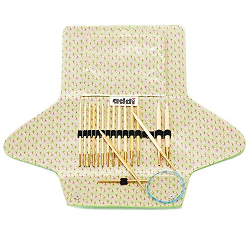 Addi Click Natura Bamboo Interchangeable Knitting Needle System with Exclusive Blue Cords