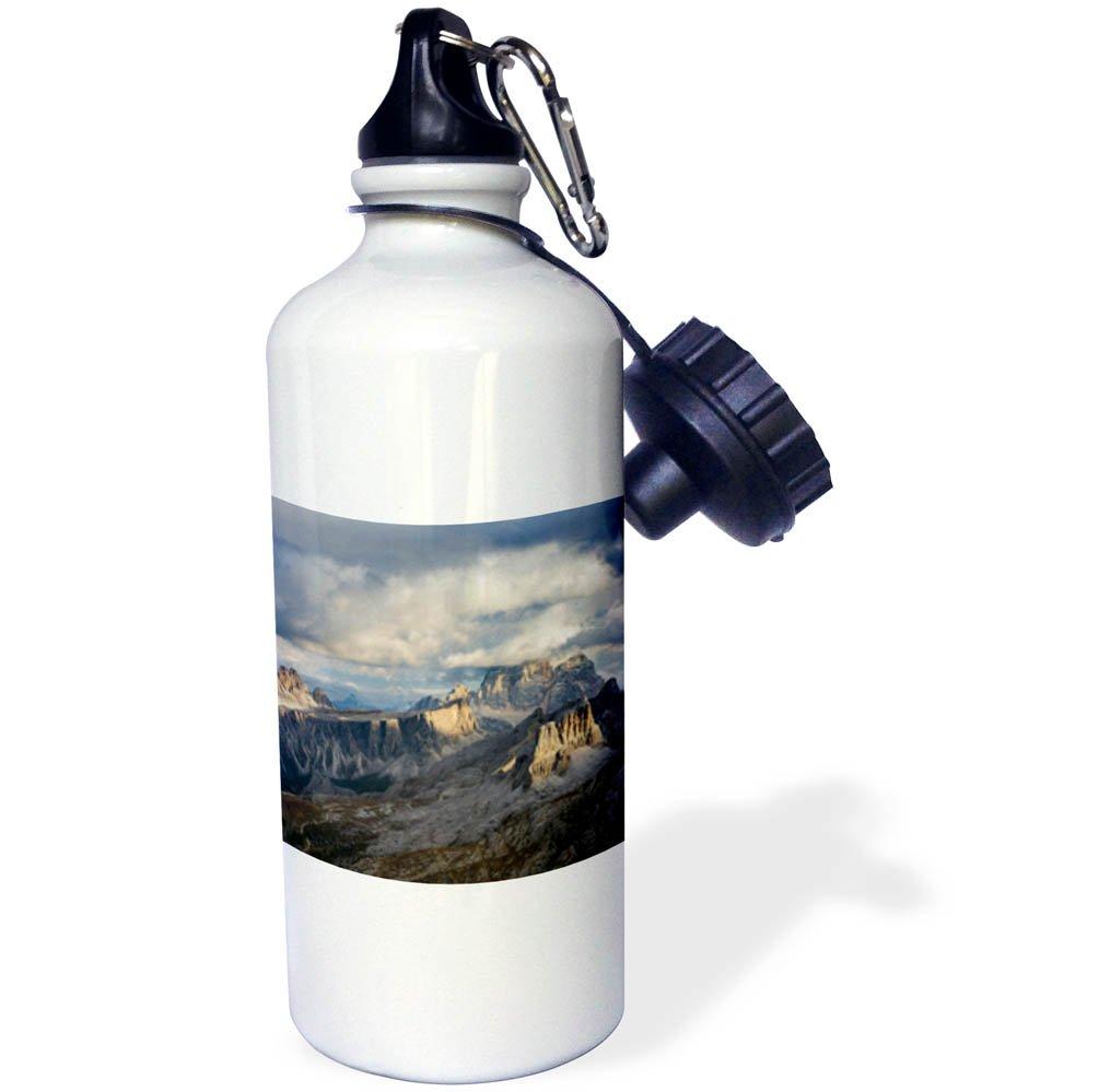 3dRose Danita Delimont - Mountains - The dolomites in the Veneto. Monte Pelmo, Croda da Lago, Averau, Italy - 21 oz Sports Water Bottle (wb_277620_1)