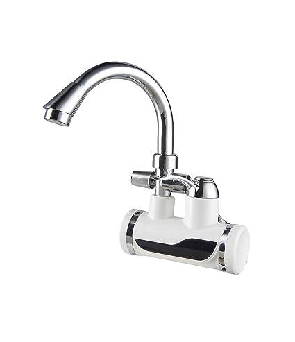Grifo de agua caliente instantánea sin tapón grifo de la cocina Grifo de cocina doble caliente