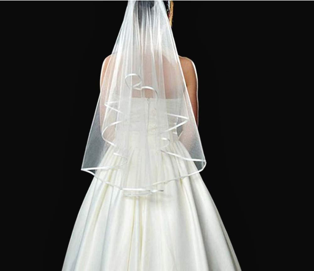 Tulle Bianco Idea Regalo Natale e Compleanno Velo Sposa Corto Semplice Fermaglio
