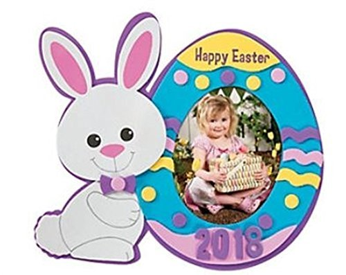 Easter Dated Picture Frame Magnet Craft Kit - Dated 2019 (12 pack)