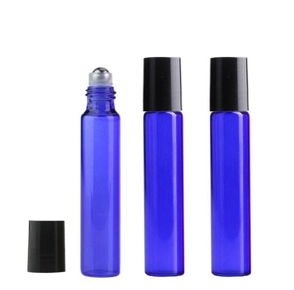 10 Stk 10 ml Leer Glas Ätherisches Öl Flaschen Roll On Kugel Glasflaschen Blau Haifly