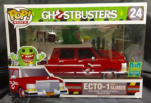 Red Ecto-1 and Slimer (Ghostbusters) Exclusive Funko Pop! Vinyl Figure by Ghostbusters