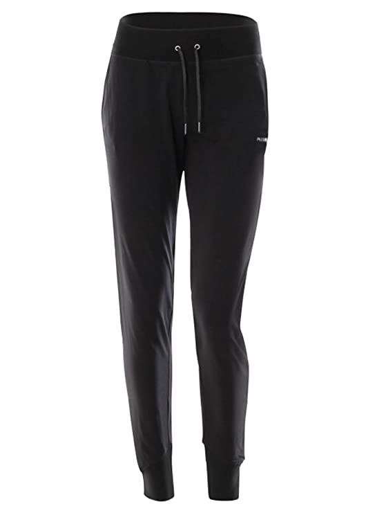 FREDDY - Pantalon de Sport - Femme Noir Noir Large  MainApps  Amazon.fr   Vêtements et accessoires 8eaaad6124c
