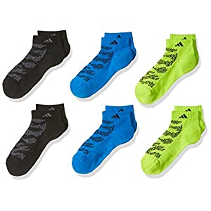 adidas Boys/Youth Tiger Style Cushioned Low Cut Socks (6 Pack)
