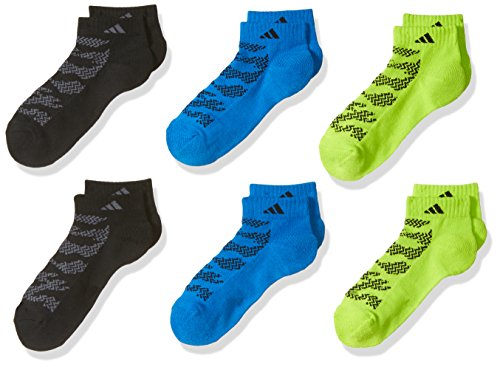 adidas Boys/Youth Tiger Style Cushioned Low Cut Socks (6-Pack)