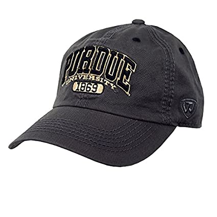 Amazon.com   Purdue University Charcoal Adjustable Hat   Sports ... b90fec2d84c