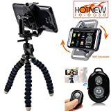 ChargerCity 360°Adjust Periscope Live Stream Video Record Selfie Kit w/Smartphone Holder Flexible Tripod & Bluetooth Shutter Remote for Apple iPhone X 8 7 Plus 6s Samsung Galaxy S8 S7 Edge Note LG G6
