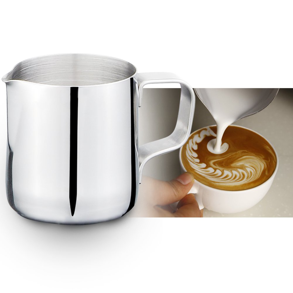 JINGXU Stainless Steel Cups Frothing Pitcher For Latte Art Milk Frothing Pitcher Kitchen Tool 150ML