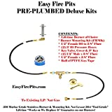 K++ Complete Deluxe Natural Gas AND/ OR Propane/ LP Universal Pre-Plumbed Fire Pit/ Fire Table Connection Kit (without burner) For Sale