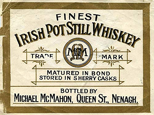 Finest Irish Potstill Vintage Whiskey ad Reproduction Steel Sign bar Decor