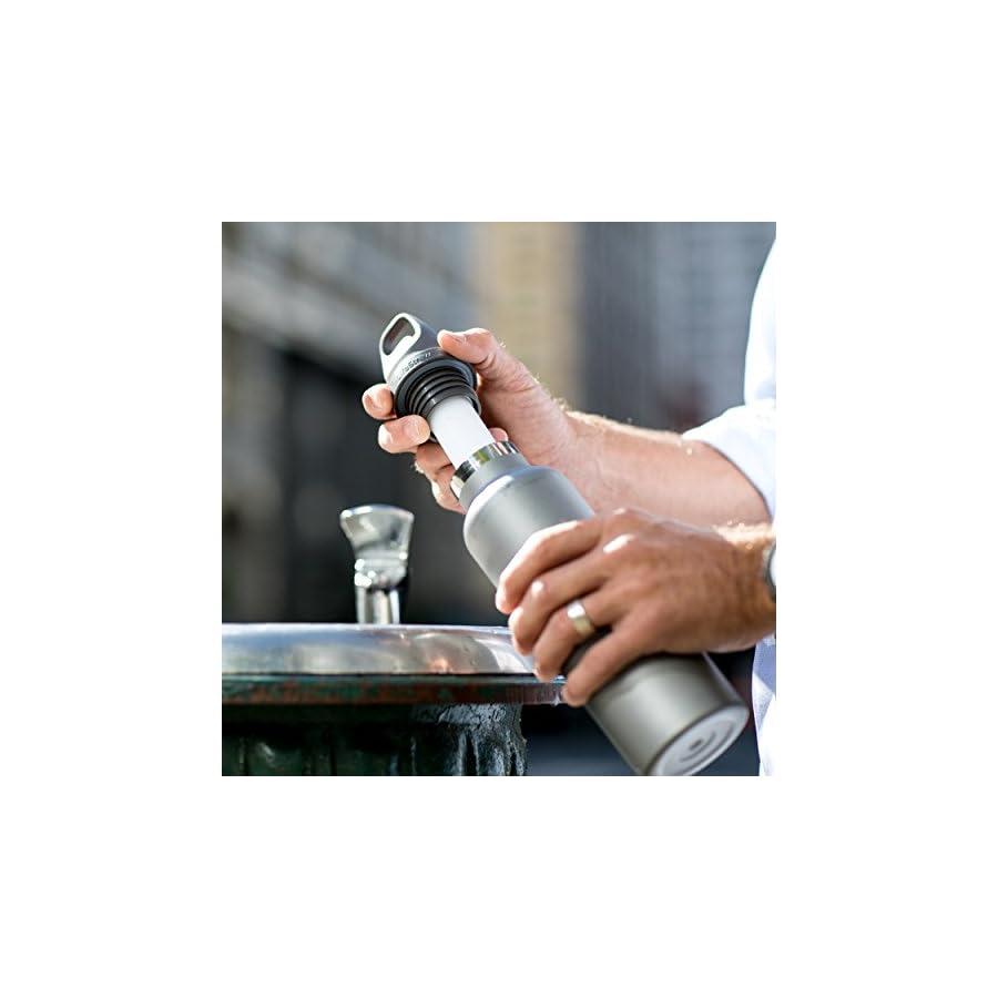 LifeStraw Universal Water Filter Bottle Adapter Kit Fits Select Bottles from Hydroflask, Camelbak, Kleen Kanteen, Nalgene More