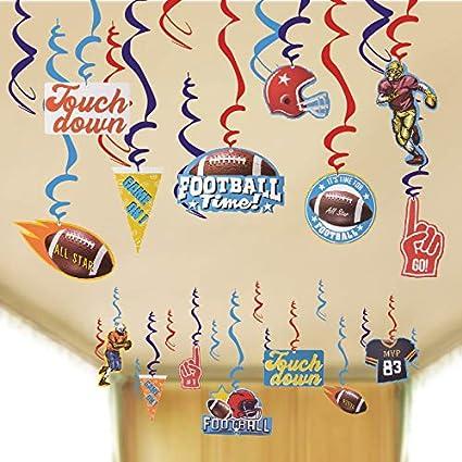 Amazon Com Football Hanging Swirl Decorations Sport Game Day