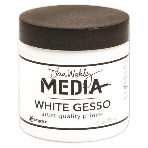 Dina Wakley Media Gesso 4oz Jar, White